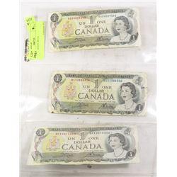 1973 CANADA $1 BILLS