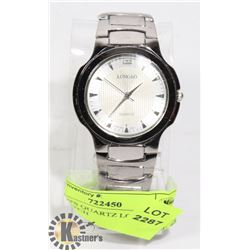 NEW MEN'S QUARTZ LONGBO STEEL LOOK WATCH