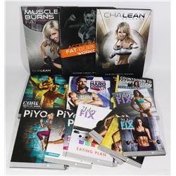 MISC. BEACHBODY WORKOUT DVDS