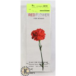 RED FLOWER FOR WOMAN MADE IN FRANCE 3 FL OZ