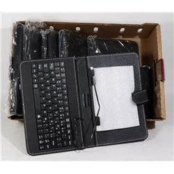 FLAT OF TABLET HOLDERS WITH BUILT IN KEYBOARDS