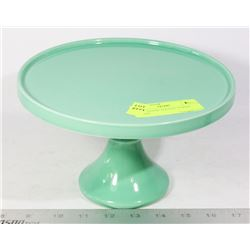 CAKE STAND- FOOTED- INDIGO BRAND