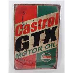 NEW CASTROL GTX MOTOR OIL METAL SIGN