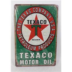 NEW TEXACO MOTOR OIL METAL SIGN