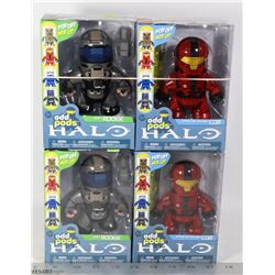 LOT OF 4 HALO ODD PODS