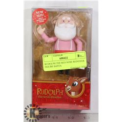 RUDOLPH THE RED NOSE REINDEER SANTA  FIGURE