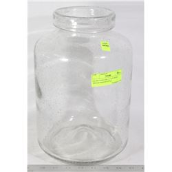 GLASS VASE/JAR- LARGE WIDE MOUTH MASON STYLE