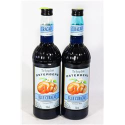 TWO BOTTLES OF BLUE CURACAO 750ML FLAVOUR