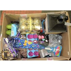 BOX OF NEW RETAIL READY PRODUCT