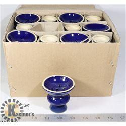CASE OF BLUE INCENSE BURNERS/ HOLDERS