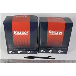 2 BOXES OF RAZZOR DISPOSABLE STRAIGHT RAZORS