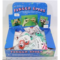 RETAIL DISPLAY OF FINGER SPIES TOYS