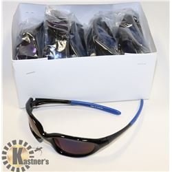 BOX OF BLACK & DARK BLUE DESIGNER SUNGLASSES