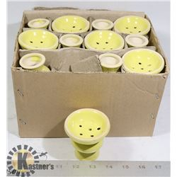 CASE OF YELLOW INCENSE HOLDERS