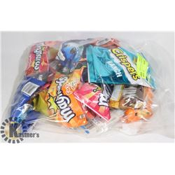 24PCS OF ASSORTED CHOCOLATE, GUMS AND CANDY