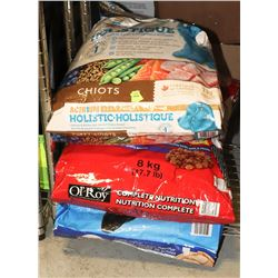 3 BAGS OF ASSORTED DOG FOOD **PACKAGING DAMAGE