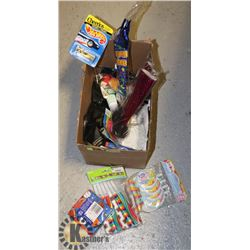 BOX OF KIDS BIRTHDAY SUPPLIES