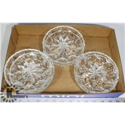 FLAT OF CRYSTAL CANDY DISHES