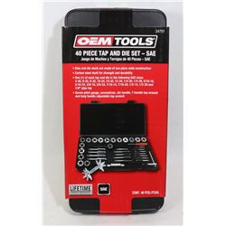 NEW OEMTOOLS 40 PC TAP & DIE SET - SAE