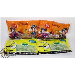 2 BAGS OF 50 DISNEY GUMMY CANDY SOLD WITH 2 BAGS