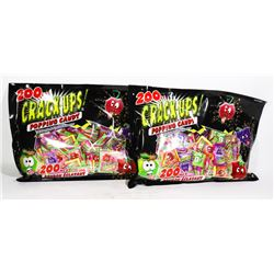 TWO BAGS OF 200PC POPPING CANDY