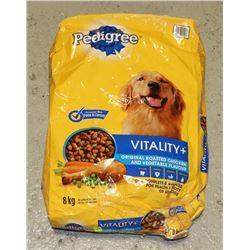 BAG OF PEDIGREE DOG FOOD