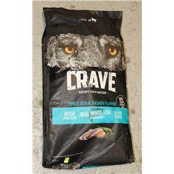 BAG OF CRAVE DOG FOOD