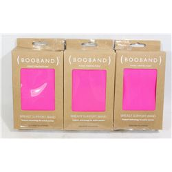 LOT OF THREE BOOBANDS (BREAST SUPPORT BANDS)