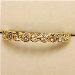 10K YELLOW GOLD DIAMOND(0.36CT) RING
