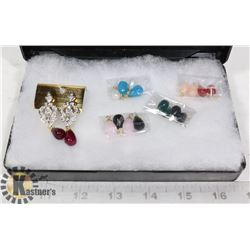 SET OF FASHION EARRINGS WITH 9 SETS OF