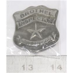 REPLICA LAS VEGAS BROTHEL INSPECTOR BADGE