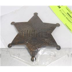REPLICA LARGE SHERIFF'S BADGE