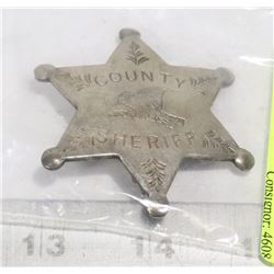 REPLICA COUNTY SHERIFF'S BADGE
