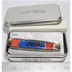 LYNYRD SKYNYRD COLLECTIBLE FOLDING KNIFE IN BOX