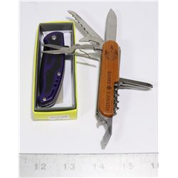 NEW POLICE TECH FOLDING KNIFE + 9 TOOL FOLDING
