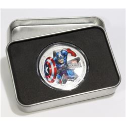1 OZ SILVER COLLECTIBLE CAPTAIN MARVEL COIN IN BOX