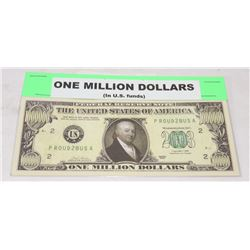 MILLION DOLLAR REPLICA US BILL