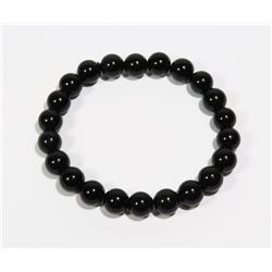 #188-NATURAL RAINBOW BLACK OBSIDIAN BRACELET