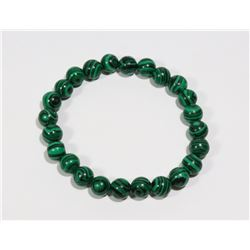 #178-NATURAL MALACHITE BEAD BRACELET 8mm/7.5""