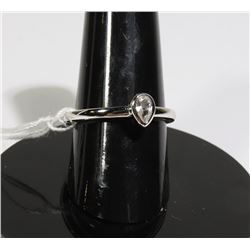 #117-WHITE SAPPHIRE RING SIZE 6.5