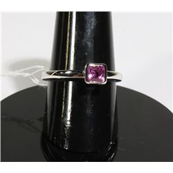 #114-PINK SAPPHIRE RING SIZE 6.75