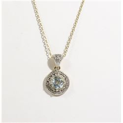 #98-BLUE TOPAZ NECKLACE & PENDANT