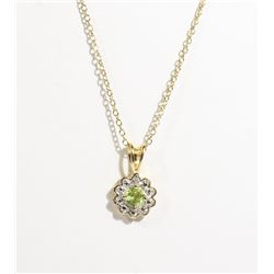 #101-PERIDOT NECKLACE & PENDANT
