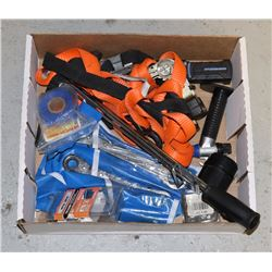 FLAT OF RATCHET STRAPS, TORQUE WRENCH, AND MORE