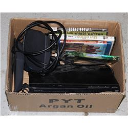 BOX OF ELECTRONICS INCLUDING DVD PLAYER,