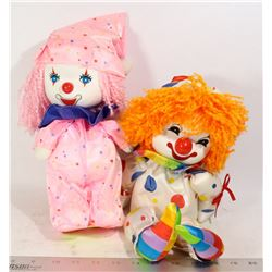 PAIR OF VINTAGE MUSICAL CLOWNS