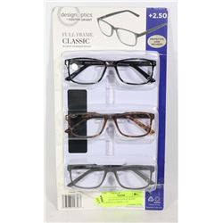 DESIGN OPTICS FOSTER GRANT READING GLASSES +2.50