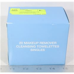 BOX W/ 20 MAKEUP REMOVER CLEANSING TOWELETTES
