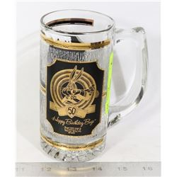 BUGS BUNNY 50 BIRTHDAY 24K GOLD ENGRAVED MUG