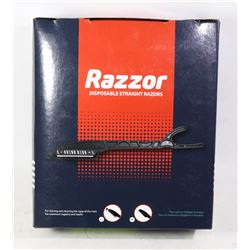 NEW BOX W/ OVER 100 RAZZOR DISP STRAIGHT RAZORS